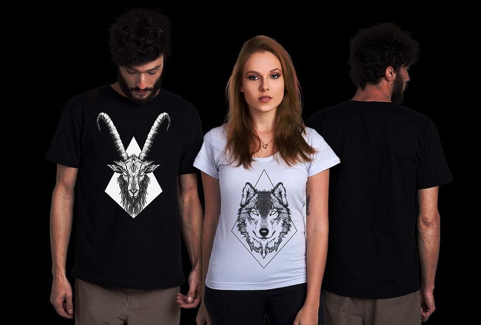 modelos posando com camisas da coleção feita pelo André Fonseca