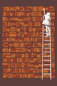 Estampa da Camiseta Biblioteca