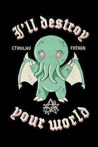 Estampa da Camiseta Cute Cthulhu