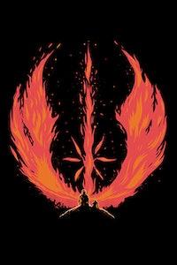 Estampa da Camiseta Flame Awaken