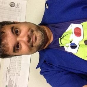 Carlos  com a camiseta Camiseta 3D Vision