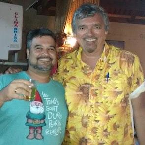 Carlos  com a camiseta Camiseta Amélie Poulain