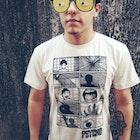 Tiago Aquino veste Camiseta Psicose