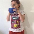Greice amanda Meira Silva veste Camiseta Central Perk