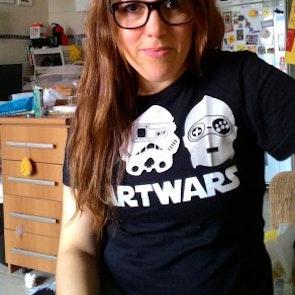 Lencia com a camiseta Camiseta Start Wars