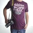 Vinicius Vieira veste Camiseta Fotografar é uma Arte
