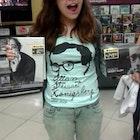 Nathália Alcáçova veste Camiseta Woody Allen