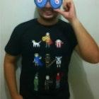 Augusto Farias veste Camiseta Caverna do Dragão