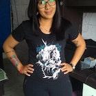 daniele  nascimento  veste Camiseta Jon Snow