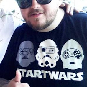 leonardo com a camiseta Camiseta Start Wars