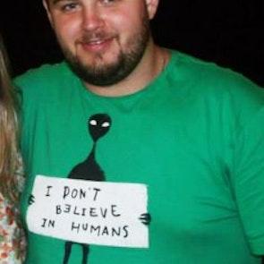 leonardo com a camiseta Camiseta Humans